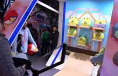 Real-Life Mobile Games - Visit China to Play the Carnival Angry Birds Version in Person