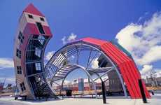 Transmutating Transit Stops - Dennis Oppenheim Bus Home Links Passengers to Destinations