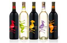 Quirky Quacking Branding - Cute Lucky Duck Wine Labels Are Made for Casual Drinkers