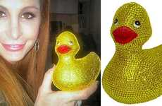 Blinged-Out Tub Toys - The Swarovski Rubber Duck Makes for a Luxurious Bath Time