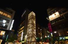 Slender Jenga Structures - TNA Architects Designs a New Building for the Ginza District