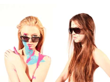 Paint-Splashed Sunglasses