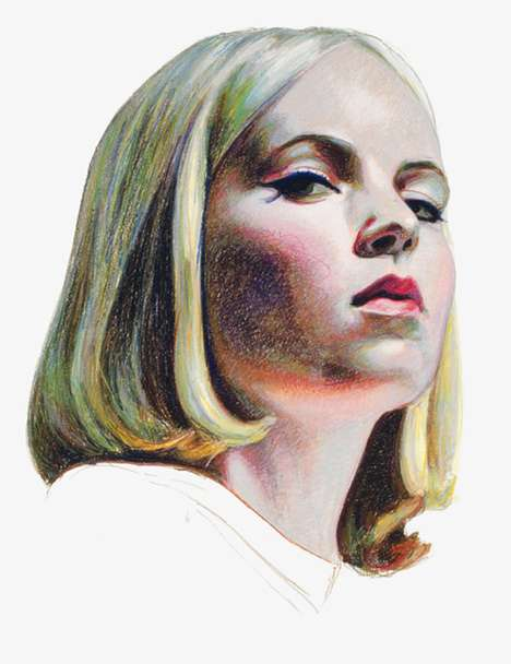Rainbow-Detailed Portraits - Mercedes Helnwein Creates Lifelike Portraits of People