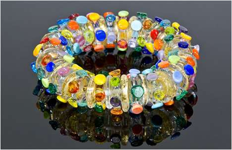Anat Sapir Handcrafts Sparkling Glass Jewelry