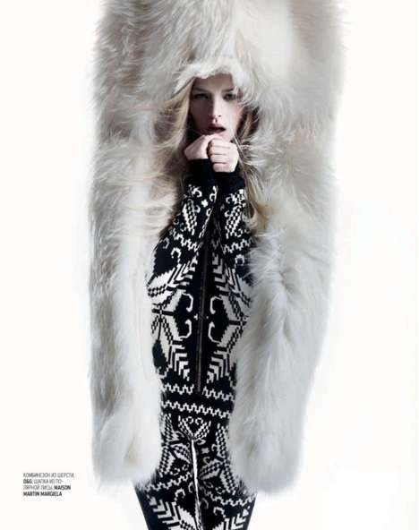 The Iza Olak Marie Claire Russia Shoot Makes a Case for Winter Glam