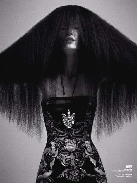 Eerie Sweeping Hairdos