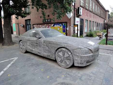 Sculpted Supercars - A BMW Z4 Model Created from Bricks Could Fetch $125,000