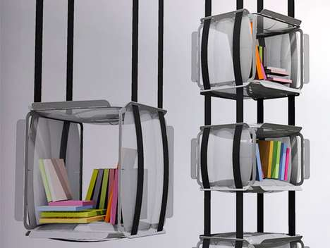 Suspended Bookshelves