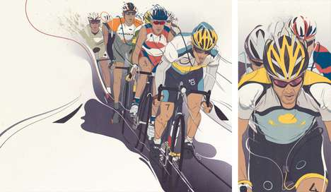 Active Athletic Illustrations