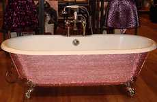 Crystal-Studded Bathtubs - Lori Gardner Designs the Diamond Bathtub as a True Luxury