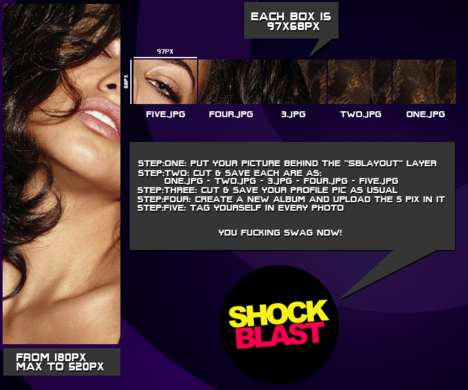 Social Media Glamorizing - The Shockblast Layout Awesomizes Your Facebook Profile Page