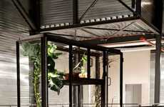 Indoor Garden Cabinets - KasKast Greenhouse Provides Edible Plants in the Home