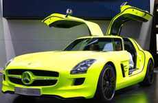 Electrified Gull-Winged Rides (UPDATE) - The Mercedes-Benz SLS AMG E-Cell Makes Its Detroit Debut