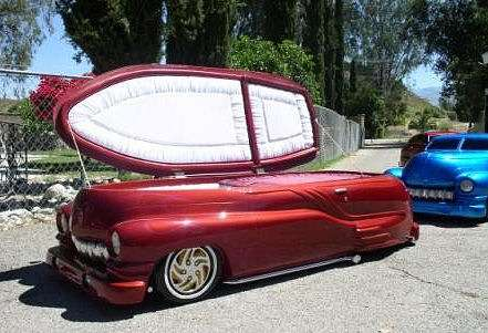 Car-Shaped Coffins - 'Cruisin Caskets' Offers Rides of the Eternal Kind