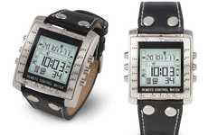 TV-Controlling Timepieces - The Television Remote Control Watch is a Two-in-One Device