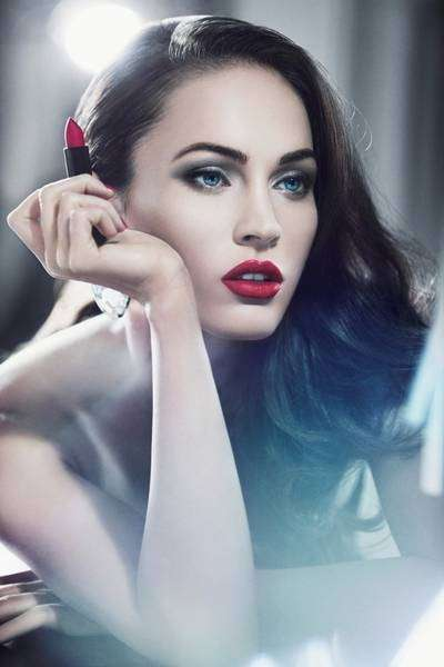 Red-Lipped Vixen Shoots - Megan Fox Looks Breathtaking in the New Rouge D'Armani Ads
