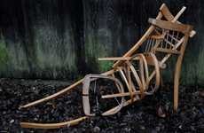 Skeletal Chair Sculptures