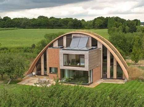 Arched Eco Houses - Richard Hawkes's Passivhaus Has No Conventional Heating System