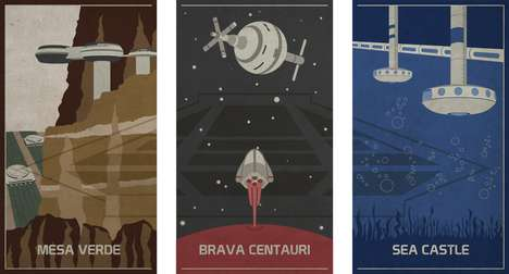 Retro Theme Park Posters (UPDATE) - Disney EPCOT's final three destinations