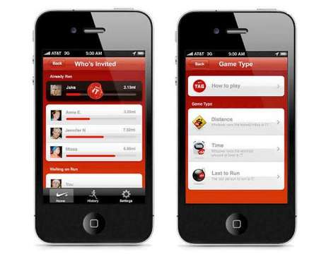 Social Media Playground Games - Nike+ GPS iPhone App Lets You Play Tag With Other Runners