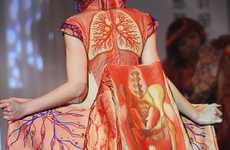 Embroidered Organ Gowns - This Anatomical Dress Divulges the Wearer's Inner Beauty