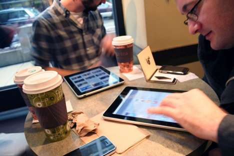 Paperless Cafe Newsstands - The Box Coffee Shop in Croatia Replaces Newspapers With iPads