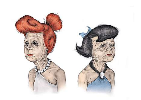 Aged Cartoon Illustrations