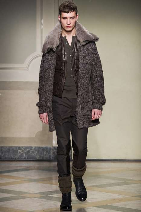 Muted Celtic Menswear - The Pringle of Scotland 2011 Fall Collection Reaches for the Highlands