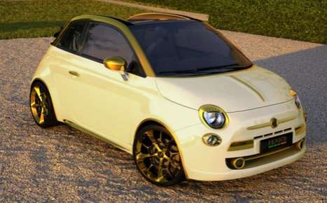 Luxurious Low Riders - Get Your Wealth on with the Fenice Milan Gold and Diamonds Fiat