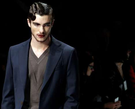 Lipstick-Wearing Men - The Vivienne Westwood AW11 Men's Collection is Femininely Masculine