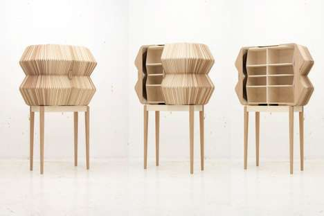 Folding Wooden Cabinets