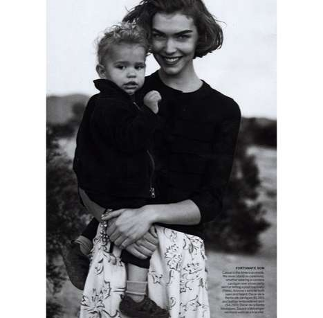Mommy Model Fashiontography - Arizona Muse Shows Off Her Son For Manifest Destiny in Vogue