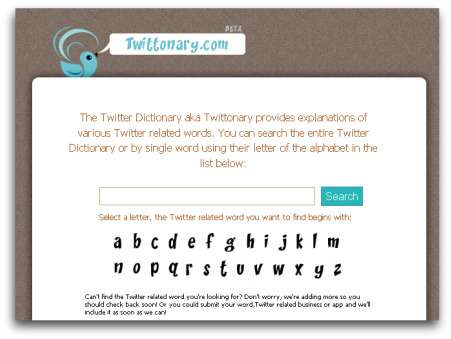 Twittonary Helps You Communicate in the Tech World
