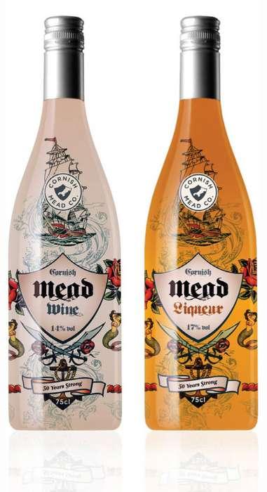 Tattoo-Inspired Wine Bottles