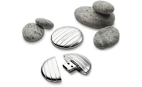 Pebble-Shaped Flash Drives