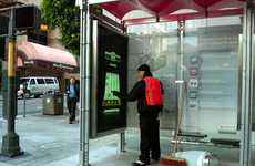 Gaming Bus Stops - These Yahoo Bus Shelters Feature Video Games to Pass the Time
