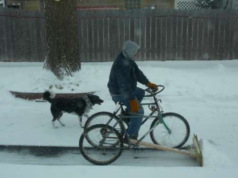 Cycling Snow-Shovelers