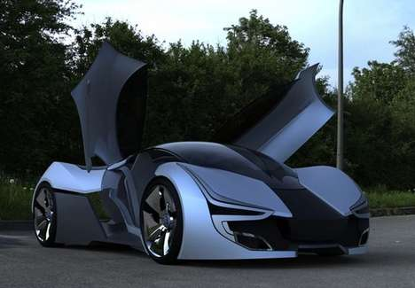 Aerodynamic Eco Sedans - The Aerius Concept is Designed for 2025