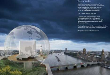 Clear Globular Abodes - The Room For London Spherical Home Breaks Down the Walls of Architecture