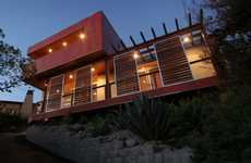 Rad Red Residences - The Red Box is a Low-Impact Home Addition That Makes a Bold Statement