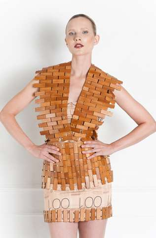 Wearable Wooden Dresses - Technology-Inspired Fashion by Thrive is Haute Geek Chic
