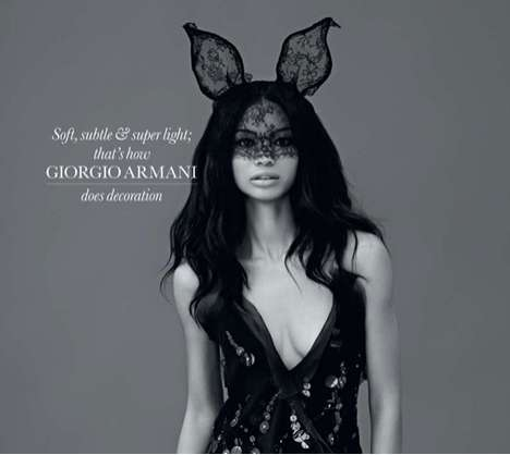 Laced Bunny Masks - The Chanel Iman Elle UK Spread is Super Chic