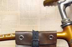 Upcycled Bicycle Baggage - Tanya Sheremeta Brings Style Back to Bike Bags With Leather Panniers