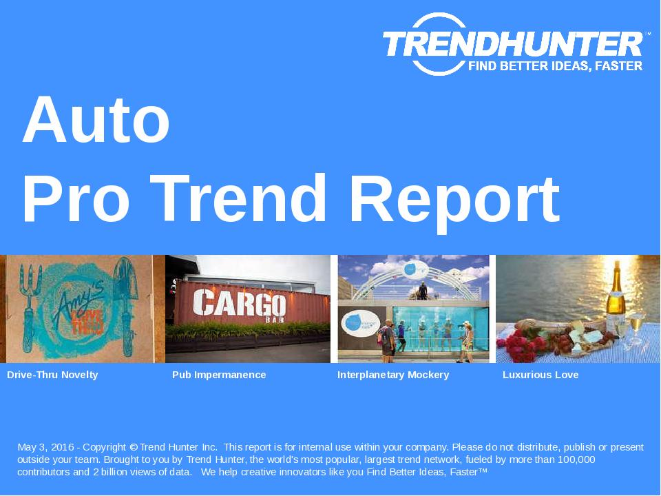 Auto Trend Report Research