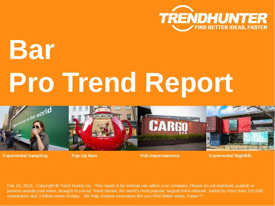 Bar Trend Report Research