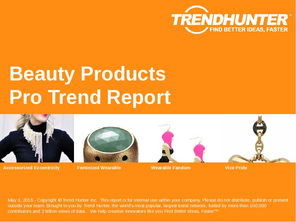 Beauty Products Trend Report Research