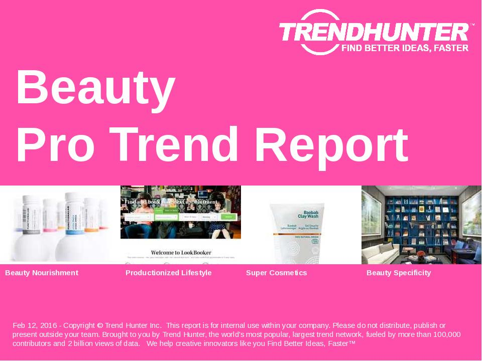 Beauty Trend Report Research