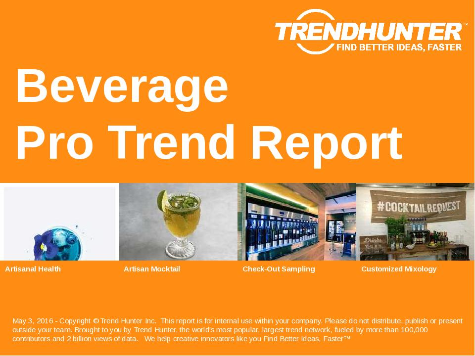 Beverage Trend Report Research