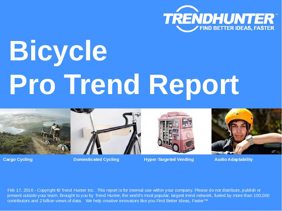 Bicycle Trend Report Research
