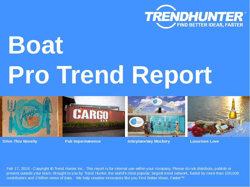 Boat Trend Report Research